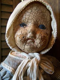Vintage Doll With Chippy Paint