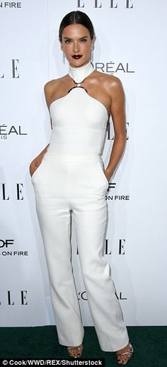 White hot! Looking angelic in white were IMG Model Alessandra Ambrósio and Grease: Live ac...