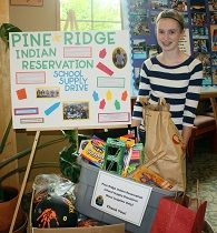 To earn her Silver Award, Kelley led a school supply drive for the Pine Ridge Indian Reservation, one of the poorest areas in the country. She felt changed by the project and wants other girls to know that that you don't have to be older to tackle a project that can impact people's lives.
