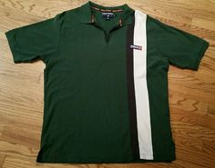 Polo Sport Ralph Lauren Half Zip Shirt Men 2XL  Stripe green blue white vintage #PoloSportRalphLauren #PoloRugby