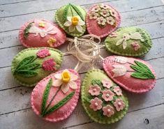 easter decorations 264093965635636332 - MADE TO ORDER / Felt Easter decoration – felt eggs , Pastel Easter ornaments, Pastel spring decoration, Pink Green / set of 8 or 10 Source by Felt Diy, Felt Crafts, Easter Crafts, Easter Decor, Bird Crafts, Handmade Felt, Easter Centerpiece, Bunny Crafts, Seashell Crafts