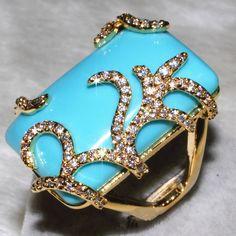 Pas cher bague turquoise naturel femme sexy zircon bijoux plaqué or avec clignotants. pebble grain 101. grain lian1229 1 dinde, Acheter  Bagues de qualité directement des fournisseurs de Chine: