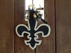 Mardi Gras beads Saints Fleur de lis