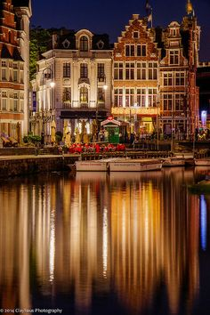 Korenlei Twee Restaurant on the banks of the old harbour in Ghent, Belgium • photo: Jeff Clay on Flickr