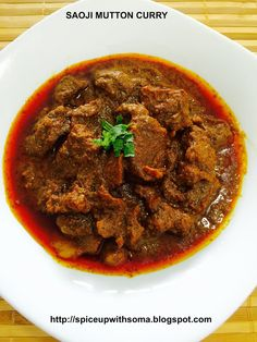 CURRY AND SPICE: SAOJI MUTTON CURRY