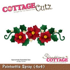 CottageCutz Poinsettia Spray (4x4)