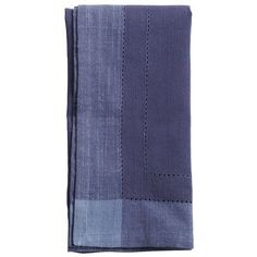 Dining- Napkins for the place setting- Pier 1 Hemstitch Napkin - Navy Blue