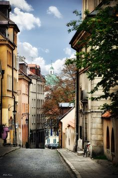 Warsaw, Poland... I love walking on the streets. Beautiful colors