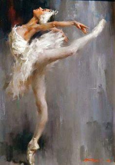 """Ballerina Arabesque - 24"""" x 18"""" - Oil On Canvas - Stephen Pan"""
