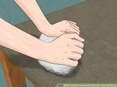 How to Make Homemade Polymer Clay Substitute. Are you tired of running to the craft store for expensive polymer clay? This wikiHow will show you how to make your own polymer clay substitute. Keep in mind, however, that these homemade clays. Homemade Polymer Clay, Polymer Clay Recipe, Polymer Clay Dolls, Polymer Clay Projects, Diy Clay, Polymer Clay Jewelry, How To Make Clay, How To Make Homemade, Clay Food