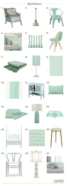 sherwin williams kind green products, mint green, eucalyptus green, seafoam green