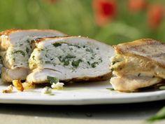 Gefüllte Hähnchenbrust - mit Ricotta und Estragon - smarter - Kalorien: 242 Kcal - Zeit: 40 Min. | eatsmarter.de