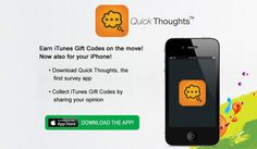 QuickThoughts App for Android (US Only) Free Mobile Apps, Itunes, Coding, Thoughts, Iphone, Tanks, Programming, Ideas