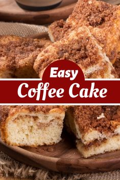 This Classic Coffee Cake is moist, tender, and incredibly easy to make. Pair it with a cup of coffee and you've got the perfect breakfast! With a few basic pantry ingredients, you can whip up this timeless coffee cake in no time. Bisquick Coffee Cake Recipe, Bisquick Recipes, Baking Recipes, Easy Cake Recipes, Easy Desserts, Healthy Desserts, Dessert Recipes, Food Cakes, Cupcake Cakes