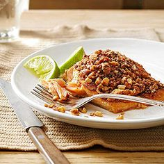 Cocoa-Almond Crusted Salmon