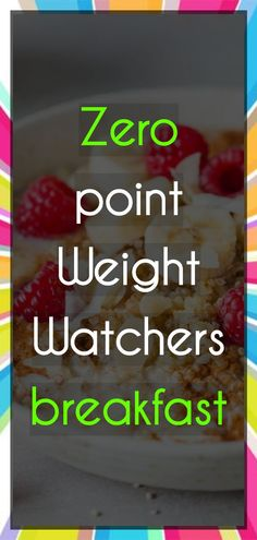 Best Breakfast For Weight Loss Vegan Ww Recipes, Dessert Recipes, Cooking Recipes, Healthy Recipes, Healthy Breakfasts, Recipes Dinner, Desserts, Weight Watchers Menu, Weight Watchers Breakfast