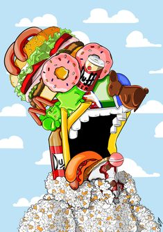 Homer J. Simpson by Fabio Frangione, via Behance