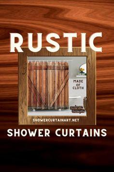 Drastically enhance your bathroom decor with a soft & stylish fabric shower curtain from Shower Curtain Art. Farmhouse Decor, Rustic Curtains, Mens Bathroom Decor, Rustic Bathroom Remodel, Rustic Bathroom, Rustic Shower, Stylish Shower Curtain, Rustic Home Decor, Rustic Shower Curtains