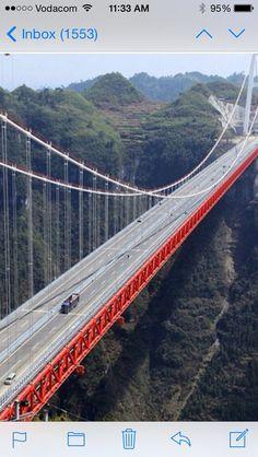 4000 feet bridge in Hunan province China!