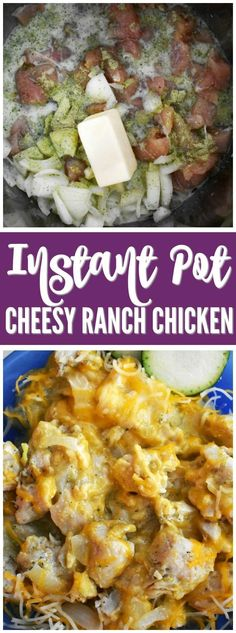Instant Pot Cheesy Ranch Chicken! An easy dinner recipe that your kids will LOVE! Simple Dinner Ideas for the WIN!