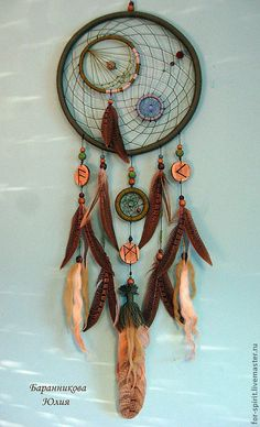 Ideas for handmade – Dream catcher with their own hands pictures) + Process of making Cute Crafts, Fall Crafts, Crafts To Make, Arts And Crafts, Diy Crafts, Dream Catcher Decor, Dream Catcher Mobile, Making Dream Catchers, Los Dreamcatchers