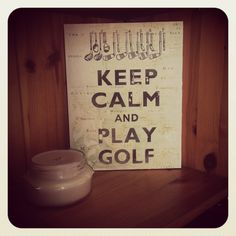 Keep calm and play golf AED125