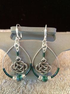 Celtic Knot Dangle Earrings by MadeByASoldiersWife on Etsy