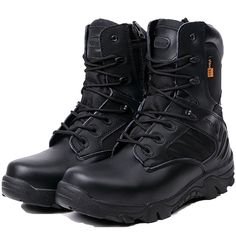 3773ccc64df [Visit to Buy] Spring Autumn Men Military Combat Boots Tactical Desert  Shoes Climbing Outdoor Ankle Boots Men Work Army Botas Tacticos Zapatos