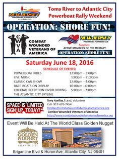 Combat Wounded Veterans of America and Power Boat Rides Steel Pier Atlantic City Fun