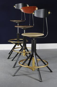 Architect's Stool - Studio Dunn Bar Chairs, Wicker Table And Chairs, Kitchen Chairs, Dining Chairs, Bar Stools, Dining Table, Bar Furniture, System Furniture, Furniture Design