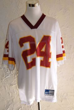 f00ef46ec Washington Redskins Number 24 Champ Bailey NFL White Red Trim Jersey By  ADIDAS in Sports Mem