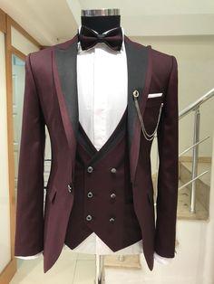 Abboud Limited Claret Red Suit