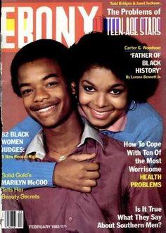 Ebony Magazine featuring Todd Bridges & Janet Jackson....they were my idols back in the day!