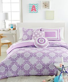 Lavender Medallion 5 Piece Comforter Sets