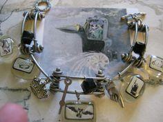 Steampunk Charm Bracelet by jansbeads on Etsy, $36.50