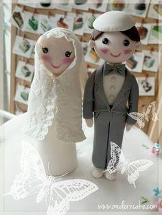 Muslim wedding cake topper. love love