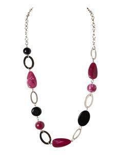 Cleo - Burgundy Large Bead Necklace