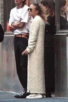 Mary-Kate Olsen Goes All-White In New York City