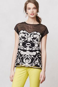 Cybele Tulle Blouse - Anthropoloie's Archival Cybele Tulle Tunic