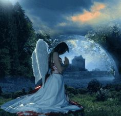 Angels above you, Angels beside you have faith that they ate with you to love you and guide you believe that they'll show you the right way to be, happy and peaceful, just trust them, you'll see!