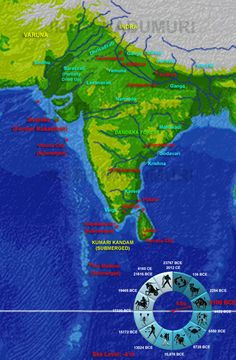 3,100 BCE:- In 2400 years since 5,500 BCE, sea level rose by 6 meters from -10 m to -4 m, not a significant rise. The island of Kusasthali is reduced in size and is now Krishna's Dvaraka. This island is about to submerge in 3100 BCE due to inter-plate deformation in that region of the Indian plate as it undergoes minor movements with respect to the nearby Arabian plate.