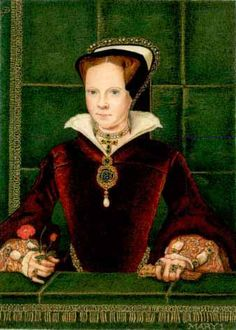 """Queen Mary I of England - otherwise known as """"Bloody Mary"""" as she burned many Protestant and Evangelicas though the number is far less than her historical predecessors. I guess because she's a woman."""