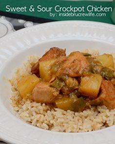 Sweet and Sour Crock Pot Chicken on MyRecipeMagic.com