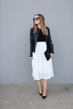 37 Trendy how to wear white skirt style White Skirt Outfits, White Sneakers Outfit, White Skirts, Dressy Skirts, Modest Outfits, Summer Outfits, White Eyelet Skirt, White Dress, Memorial Day
