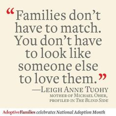 Families Don't Have To Match. #adoption