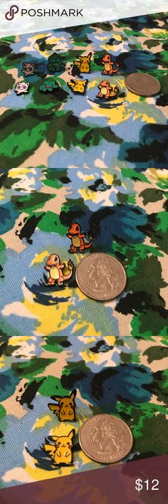 Adorable Pokémon stud earrings - never worn! Brand new, never worn Pokémon stud earrings! Made of sturdy metal, these earrings are so adorable and perfect for any Pokémon trainer! Choose from Charmander, Pikachu, Bulbasaur and a tiny Jigglypuff! Buy one pair for $12, or bundle to save! 😊 2/$22, 3/$30 or 4/$36! Modcloth Jewelry Earrings
