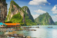 A distinctive feature of Phang Nga Bay are the sheer limestone karsts that jut vertically out of the emerald-green water. James Bond Island and Koh Panyee are just two of the more famous spots in this bay. By far the best means of enjoying the spectacular scenery,