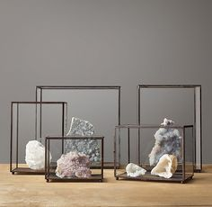 Metal and Glass Display Case Collection