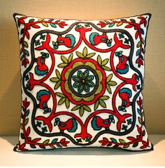 Find More Cushion Information about Embroidered flower cushion covers, all national wind cotton pillows in  bed and  sofa without core of back pillow  free shipping,High Quality pillow bed,China flower sequins Suppliers, Cheap flower shower from Fashion  easy   life on Aliexpress.com