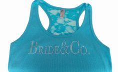 Clear Rhinestone Tank for Bride, Bridesmaid
